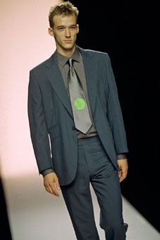 Gene Meyer:  Spring 2000 menswear show, New York City