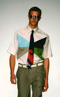 Gene Meyer: Spring 2001 menswear show, New York