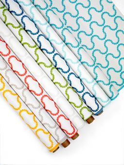 Doug & Gene Meyer designed outdoor  fabric called Drop In for Link Outdoor.