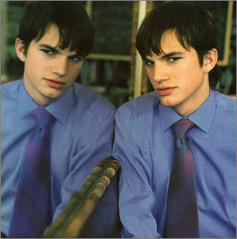 Gene Meyer:  Menswear ad campaign with Ashton Kutcher. Photography – Stewart Shining. Spring 1998