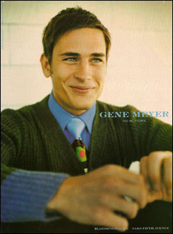 Gene Meyer:  Menswear ad campaign. Photography – Stewart Shining. Fall 1997