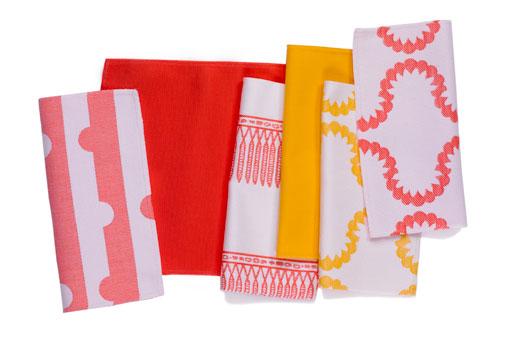 Assortment of Doug & Gene Meyer designed outdoor fabrics for Link Outdoor.