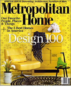 Metropolitan Home, June 2009, Design 100 Issue. Eight page spread on Doug Meyer's Miami house. Produced by – Linda O'Keefe. Story by – Beth Dunlop