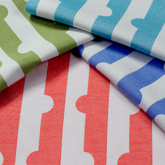 Doug & Gene Meyer designed fabric called Piece Out for Link Outdoor.