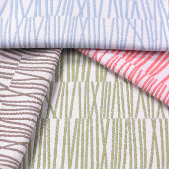 Doug & Gene Meyer designed outdoor fabric called Matchstick for Link Outdoor.