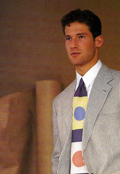 Gene Meyer  Printed silk tie  I. Magnin catalog  Spring 1994