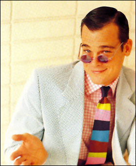 Gene Meyer  Printed silk tie  Vogue Homme  Spring 1992  Photography by Peggy Sirota