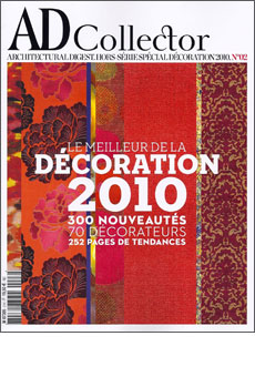 AD France Collector  Special Issue No. 2 - 2010  The Best in Interior Design  Designer Doug Meyer is included  In the list of 70 of the year's best  designers.