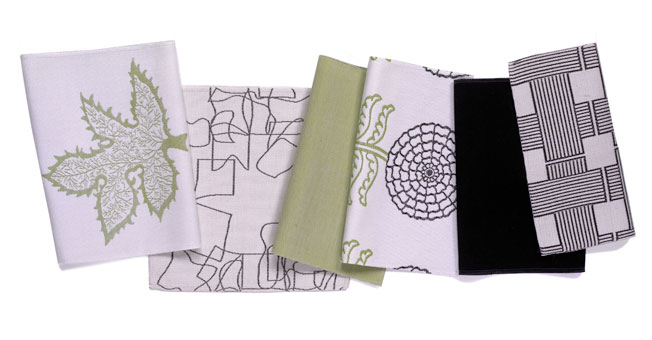 Assortment of Doug & Gene Meyer designed outdoor fabrics for Link Outdoor.