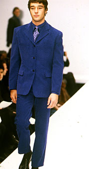 Model James Gooding Gene Meyer fashion show Fall 1996