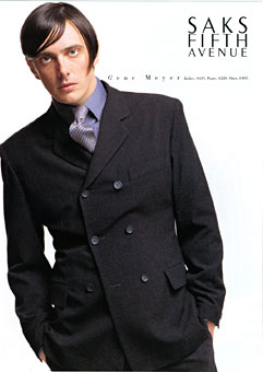 Actor-Musician Donovan Leitch wearing Gene Meyer Saks Fifth Avenue Catalog Fall 1996