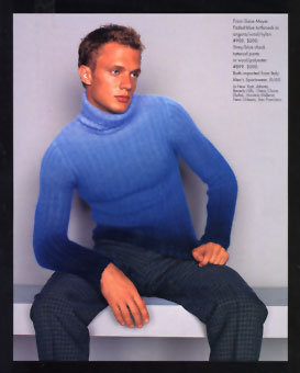Gene Meyer  Menswear Saks Fifth Avenue Catalog Fall 1997