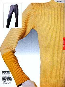 Gene Meyer  Sweater New York Magazine Fall 1997