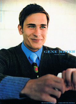 Gene Meyer menswear ad campaign Photographer – Stewart Shining Styling Josh Patner Fall 1997