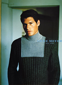 Gene Meyer menswear ad campaign  Photographer – Stewart Shining Stylist Josh Patner Fall 1998
