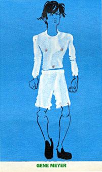 Ruben Toledo illustration Gene Meyer menswear Interview Magazine Spring 1999 Collection