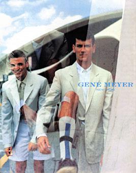 Gene Meyer menswear ad campaign Spring 1999 Stylist Stephan Campbell