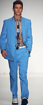 On page 137 a Gene Meyer suit, shirt, tie and belt. American Fashion Menswear By Robert Bryan