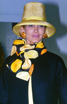 Gene Meyer Womens Collection Spring 1990 Modeled by Dianne de Witt