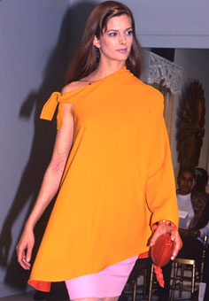 Gene Meyer Womens Collection Modeled by Janet Mervin Spring 1990