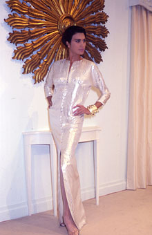 Gene Meyer Womens Collection Modeled by Isabelle Oduber Spring 1990