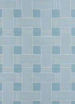 Doug and Gene Meyer designed outdoor fabric called Crossings for Link Outdoor.