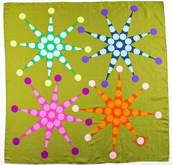 Gene Meyer scarf  Printed silk  Spring 1992