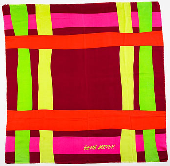 Gene Meyer scarf  Printed silk  Spring 1991
