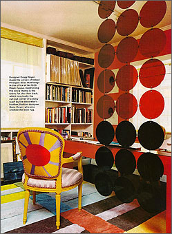 Doug and Gene Meyer rugs Crossroads Featured in HOUSE BEAUTIFUL September 2004