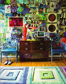 Doug and Gene Meyer rugs Multi Screen  Featured in METROPOLITAN HOME  June 2009