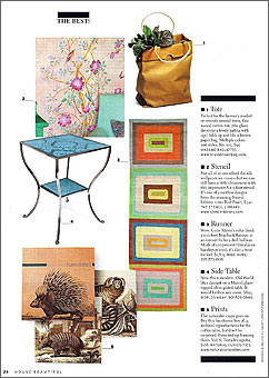 Doug and Gene Meyer rugs Beachnik Featured in HOUSE BEAUTIFUL 2006