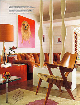 Doug and Gene Meyer rugs Polynesian Spell Featured in AD SPAIN November 2008