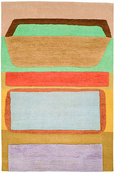 Doug and Gene Meyer rugs Abstract Art Hand knotted