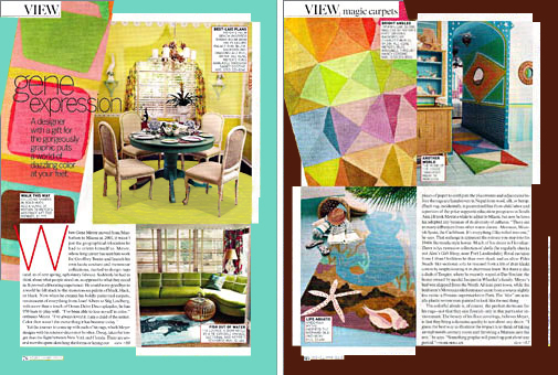 Doug and Gene Meyer rugs In VOGUE LIVING Photographed at Gene's Miami house. Story by Hamish Bowles Fall 2007