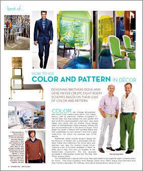 Doug and Gene Meyer  Article in the MIAMI HERALD – HOME & DESIGN Magzine Fall 2006