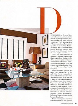 Doug and Gene Meyer rugs Helsinki Winter Featured in HOUSE BEAUTIFUL September 2004