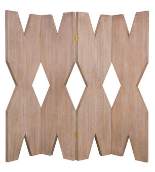 "Doug and Gene Meyer  ""X"" Folding Screen Cerused oak"