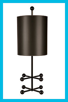 Doug and Gene Meyer  Domino Lamp Powder coated metal