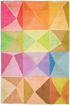 Doug and Gene Meyer rugs Try-Angular Hand knotted