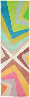 Doug and Gene Meyer rugs Blue Hurricane Hand knotted