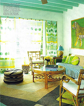 Doug and Gene Meyer rugs Volcano Island Featured in the MIAMI HERALD – HOME & DESIGN Magazine August 2005
