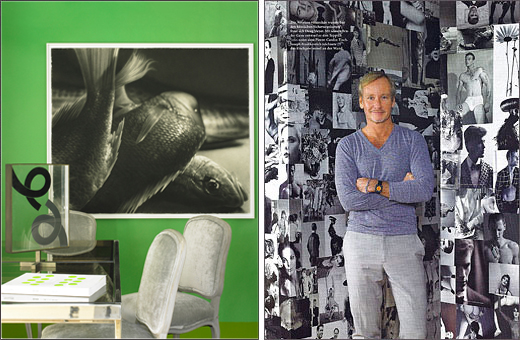 Doug Meyer interior featured in Architectural Digest Germany May 2011.