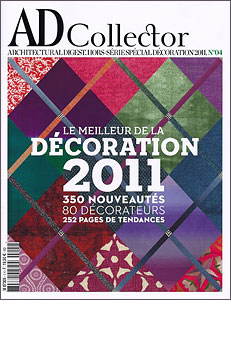"AD France Collector  Special Issue No. 4  Their selection of the Top 80  Designers of 2011  Doug Meyer of Doug and Gene Meyer Studio  Is listed under the ""Visionaries"""