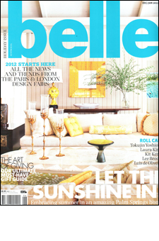 Belle magazine Australia January 2012 8 page spread on interior by Doug Meyer