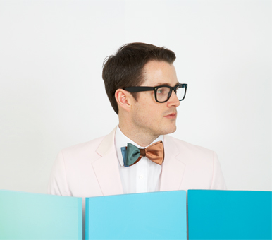 Gene Meyer Woven Silk Bow Tie  Spring 2012 Photograph by Mark Roskams