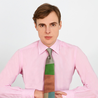 Gene Meyer Woven Silk Tie  Spring 2012 Photograph by Mark Roskams