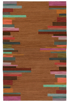 Doug and Gene Meyer Rug Edge Stripe Hand knotted
