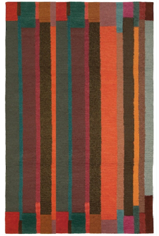 Doug and Gene Meyer Rug Ribbon Stripe Hand knotted