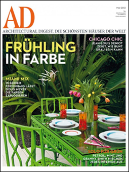 German AD May 2012 Cover featuring Doug Meyer's Miami house 8 page feature Photography- Mark Roskams