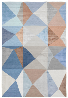Doug and Gene Meyer rugs Try-Angular Hand knotted, silk & wool